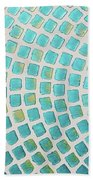 turquoise meets green P2 Bath Towel