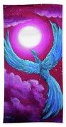 Turquoise Moon Phoenix Bath Towel