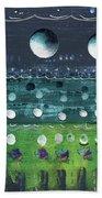 Turquoise Moons Bath Towel