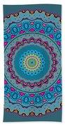 Turquoise Necklace Mandala Bath Towel