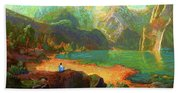 Turquoise Tranquility Meditation Hand Towel