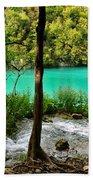 Turquoise Waters Of Milanovac Lake Hand Towel