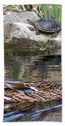 Turtle And Duck Bath Towel