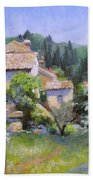 Tuscan  Hilltop Village Bath Towel