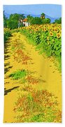 Tuscany Sunflowers Bath Towel