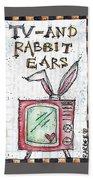Tv And Rabbit Ears Bath Towel