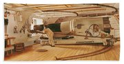 Twenty-seven Pound Cannon On A Battleship Bath Towel