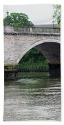 Twickenham Bridge Spans The Thames Bath Towel