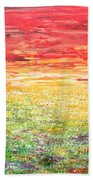 Twilight Bounds Softly Forth On The Wildflowers Bath Towel