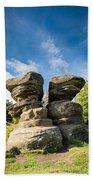 Twin Rocks At Brimham Bath Towel