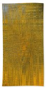 Twirl Art Yellow  Bath Towel