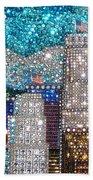 Los Angeles. Rhinestone Mosaic Beadwork Mix Bath Towel
