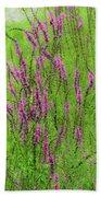 Twisty Flowers Bath Towel
