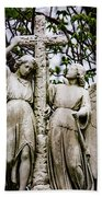 Two Angels With Cross Bath Towel