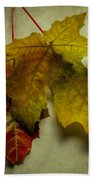 Two Autumn Leaves Bath Towel