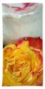 Two Beautiful Roses Bath Towel