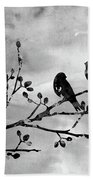Two Birds-black Bath Towel