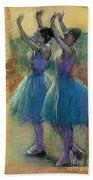 Two Blue Dancers Hand Towel
