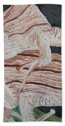 Two Brown Striped Frogs Bath Towel