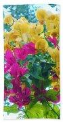 Two Color Flowers Bath Towel