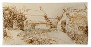 Two Cottages At Saintes Maries De La Mer Bath Towel