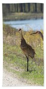 Two Cranes Bath Towel