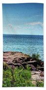 Two Harbors North Pierhead Light Bath Towel