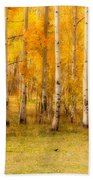 Two Horses In The Colorado Fall Foliage Bath Towel
