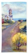 Two Lights In Cape Elizabeth Maine Bath Towel