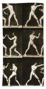 Two Men Boxing Hand Towel