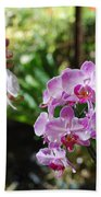 Two Orchid Branches Number One Bath Towel