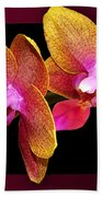 Two Orchids And A Bud Bath Towel