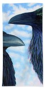 Two Ravens Bath Towel