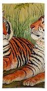 Two Tigers Bath Towel