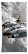 Two U.s. Navy T-2c Buckeye Aircraft Bath Towel