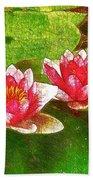 Two Waterlily Flower Bath Towel