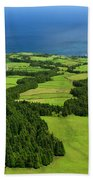 Typical Azores Islands Landscape Bath Towel