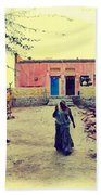 Typical House India Rajasthani Village 1j Bath Towel