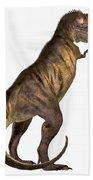 Tyrannosaurus Rex On White Bath Towel