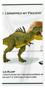Tyrannosaurus Rump Bath Towel