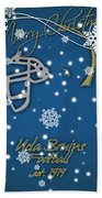 Ucla Bruins Christmas Card Bath Towel