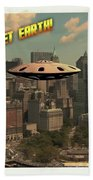 Ufo Postcards Home By Raphael Terra Bath Towel
