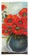 Ukrainian Poppies Bath Sheet