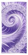 Ultra Violet Luxe Spiral Bath Towel