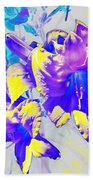 Ultraviolet Daylilies Bath Towel