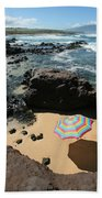 Umbrella On Beach Bath Towel