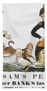 Uncle Sam: Cartoon, 1840 Bath Towel
