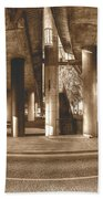 Under The Viaduct B Panoramic Urban View Hand Towel