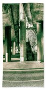 Under The Viaduct C Panoramic Urban View Bath Towel