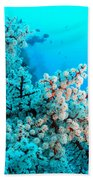 Underwater Cherry Blossom Bath Towel